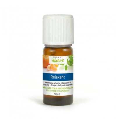 """Mélange Huiles Essentielles Naturelles """"Relaxant"""" - DIRECT NATURE - 10 ml"""