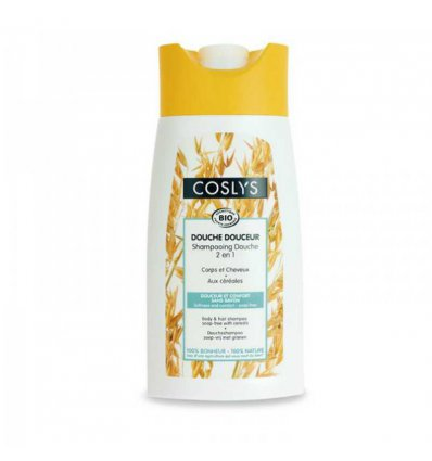 Shampoing Douche Bio aux Céréales - 250 ml - COSLYS