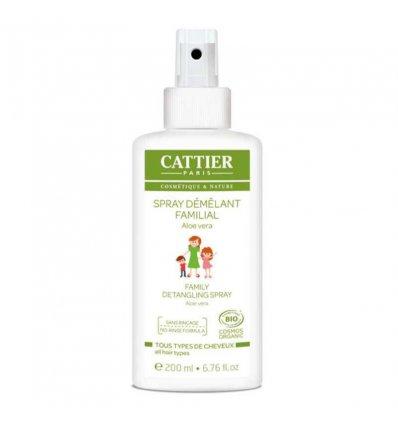 Spray Démêlant Familial Sans Rinçage Aloe Vera Bio - CATTIER