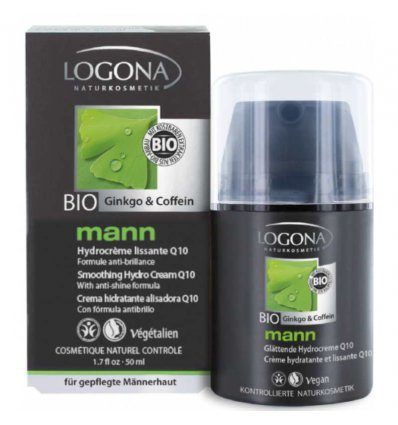 Crème Hydratante Lissante Q10 Bio Caféïne et Ginkgo - Lgona Mann