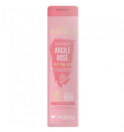 Shampoing Argile Rose Cheveux Secs - ARGILETZ