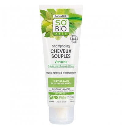 Shampoing Cheveux Purifiés Verveine et Citron Bio - SO'Bio étic