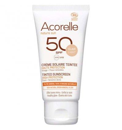 Crème Solaire Teintée SPF 50 Bio - ACORELLE