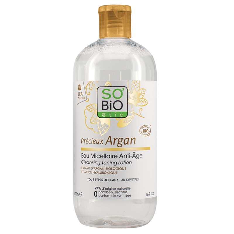 Eau micellaire anti-âge à l'huile d'argan SO'BIO étic