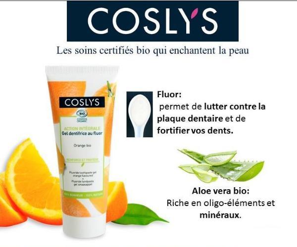 Dentifrice Orange Bio Coslys