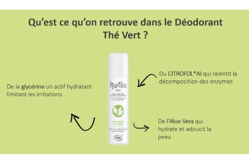 Déodorant Spray au Thé Vert Marilou Bio