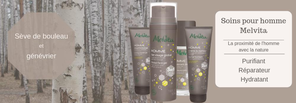 Melvita Homme - Soins pour homme Bio Melvita